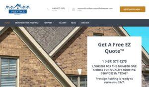 Website Design and Development - Prestige Roofing